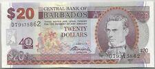 COMMEMO BARBADES : 20 DOLLARS 2012 40e ANNIVERSAIRE BANQUE NEUF - P.72