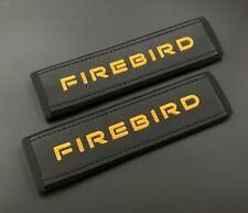 Pontiac Firebird Soft Black Seat Belt Shoulder Pads Covers 2pcs