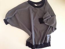 80s Style Grey Batwing American Apparel Top One Size Loose Fit
