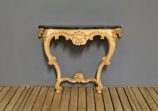 French Console Table Style Louis Top Marble