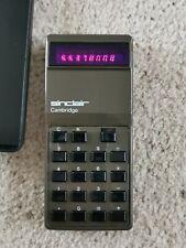 Sinclair Cambridge Type 1 Calculator With Case
