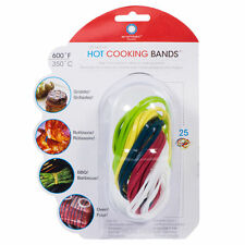 Architec Silicone Hot Cooking & Grilling Stretch Bands / Food Ties - 25pk