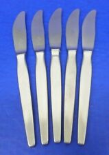 "5 - WMF Cromargan ALPHA Stainless Flatware GERMANY 8 1/4"" DINNER KNIVES"