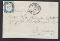 Regno di SARDEGNA  20 c. su lettera da Sarzana a La Spezia