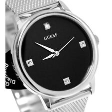 New GUESS Unisex  Stainless Steel Mesh Bracelet Watch U0280G1