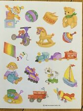 Vintage Hallmark Sticker Sheet Toys So Cute And Sweet