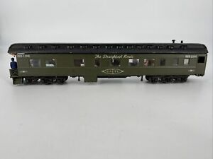 HO SCALE 1:87 VINTAGE WOOD & METAL 60' OBSERVATION FULL INTERIOR PASS CAR USED