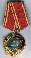 Rusia Condecoración Orden de Lenin Oro y platino 1943