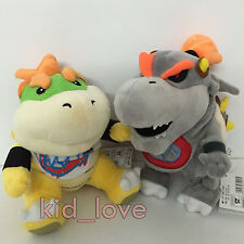 2X New Super Mario Bros.  Plush Dry Bowser Jr. Soft Toy Stuffed Animal Doll 7.5""