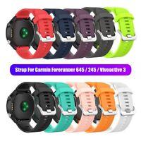 Garmin Forerunner 645 245 245M Silicone Watch Band 20mm Strap for Vivoactive 3