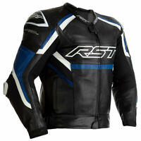 RST Tractech Evo R CE Motorbike Motorcycle Leather Jacket Black / Blue / White