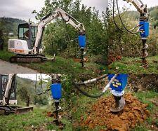 Kegelspalter Holzspalter und Erdbohrer Bagger Komplet 500 ccm Ölmotor