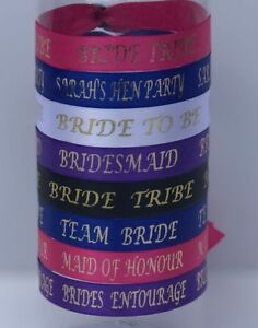 Personalised Hen Party Wristbands /Hens Party/Team bride/Bride tribe Accessories