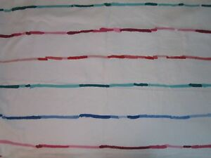 Waverly Party Lines Garden Party 100% Cotton Screen Print Fabric USA Stripes 1yd