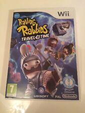 Nintendo Wii RAVING RABBIDS TRAVEL IN TIME Rayman Ubisoft Video Game Vgc