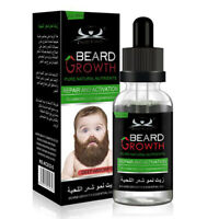 New 100% Natural Beard Mustache Hair Growth Oil Balm Wax Conditioner Care Oil