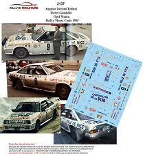 DECALS 1/43 REF 2137 OPEL MANTA TCHINE RALLYE MONTE CARLO 1985 WRC RALLY