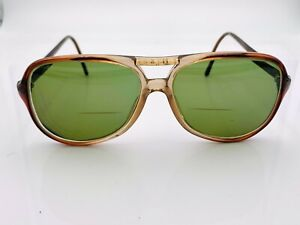 Vintage Luxottica Brown Aviator Sunglasses FRAMES ONLY Italy