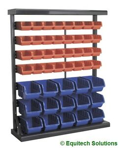 Sealey  TPS47 Parts Storage Container System 47 Plastic Bins Steel Racking