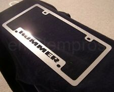 GM H2 H3 STAINLESS STEEL HUMMER LICENSE PLATE FRAME