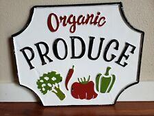 ORGANIC PRODUCE Farmhouse decor enamel vintage sign