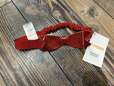 Gymboree Baby girls red Christmas holiday bow headband one size NWT
