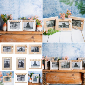 Sass & Belle Natural Rustic Vintage Wood Love Friends Picture Photo Frames