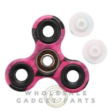 Triangle Spinner - Hot Pink Latticed Colorful Finger Toy Fidget Colorful Finger