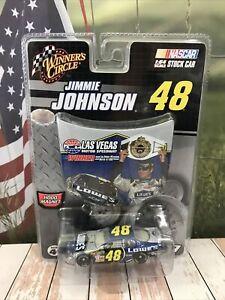 Car NASCAR Jimmie Johnson 1:64 LOWE'S 2007 WC Las Vegas Winner Mini Hood Chevy