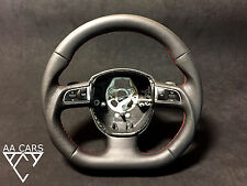 Steering Wheel AUDI A3 Flat Bottom extra THICK Paddles Silver Buttons
