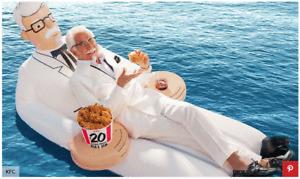 Colonel Sanders Kentucky Fried Chicken KFC Pool Float Floatie 2018 Give Away