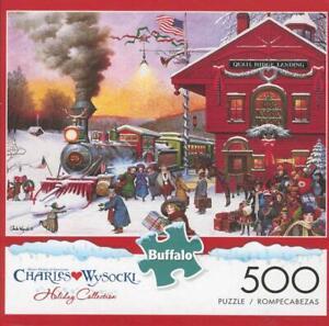 Charles Wysocki   Buffalo Games 500Pc Jigsaw Puzzle  Whistle Stop Christmas