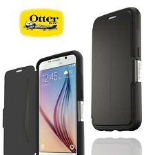 Genuine OtterBox Samsung Galaxy S6 Strada Wallet Flip Folio Case Cover Black