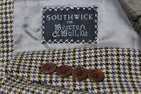Southwick Men's Flap Wide Notch Houndstooth 3 Btn Sport Coat Jacket Blazer 41R
