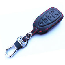 Genuine Leather Remote Smart  Key Bag Chain Holder Cover For Chevrolet HYQ4EA
