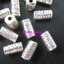 200 Pcs Tibetan silver tube spacers beads 7x4mm A8031