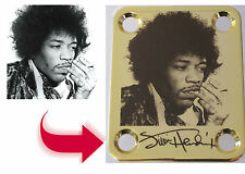 "Custom ""Dark Brown"" Engraved GOLD Neck Plate - 4 Hole Fender Guitar Style"