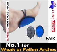 2x Magnetic Foot Arch Support - Weak & Fallen Arches Plantar Fasciitis Back Pain