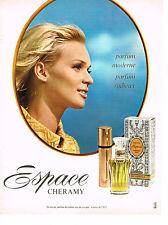 PUBLICITE  1967   CHERAMY  parfum ESPACE