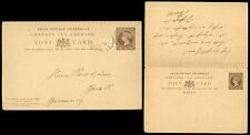 GRENADA QV STATIONERY COMPLETE REPLY CARD USED 1910 CHRISTMAS