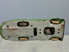 VINTAGE CHAD VALLEY CLOCKWORK MODEL OF A TINPLATE  CAR .WITH STEERING (GREEN)