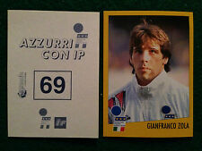 AZZURRI CON IP 1998 98 n 69 GIANFRANCO ZOLA Figurina Sticker Merlin New