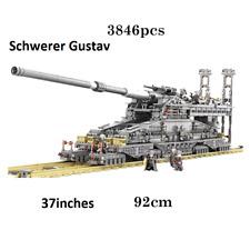German Tank Dora Railway Gun WWII Model Kit Schwerer Gustav Building kit