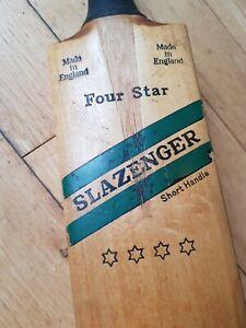 Vintage Slazenger 4 Star SH Cricket Bat Four Rare Short Handle Adult