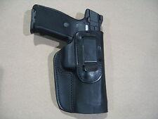 Ruger SR9, SR40, SR45, 9E IWB Leather In Waistband Concealed Carry Holster BLK