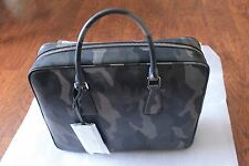 NTW Authentic Prada Saffiano Camouflage Leather Briefcase MSRP $2600 for $1400
