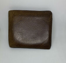 Marks & Spencers Leather Wallet Bi-fold In Brown Cards/notes