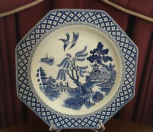 VINTAGE ROYAL STAFFORDSHIRE J&G MEAKIN ENGLAND WILLOW DINNER PLATE C1970'S