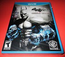 Batman: Arkham City - Armored Edition Nintendo Wii U *Factory Sealed! Free Ship!