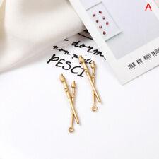 4Pcs/Lot Gold Palette Paint Brush Charms Pendants DIY Earrings Jewelry Making w/